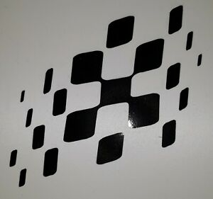 GP checkered flag 4x3inch lambretta Scooter Sticker Decal