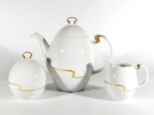 Rosenthal Kaffeeservice ASIMMETRIA Weiss / Gold ° Design Björn Wiinblad