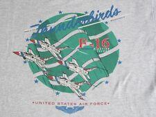 Vtg USAF THUNDERBIRDS F-16 FIGHTING FALCON Aviator Bomber Pilot T Shirt XL