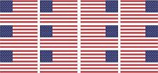 "12 - 2""x1.2"" American Flag Decal US USA United States Hard Hat Helmet Sticker RL"