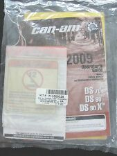 2009 CAN-AM DS 70 90 X ATV ALL TERRAIN VEHICLE OPERATORS OWNER'S MANUAL SET