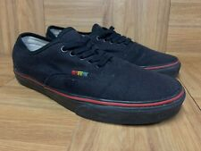 RARE🔥 VANS Authentic Black HEMP RASTA Red Yellow Green Sz 8.5 Men's Shoes LE
