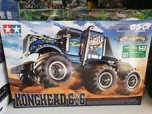 Tamiya Konghead 6x6 Brushed 1:18 RC G6-01 model car Electric Monster truck...