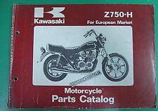 KAWASAKI Z750 H2 LTD  MOTO MOTORCYCLE CATALOGO MANUALE RICAMBI PARTS CATALOG