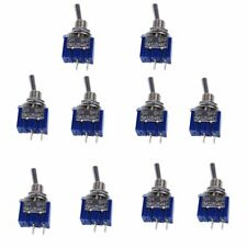 10pcs Mts 101 2 Pin Spst Switch On Off 2 Position 6a 250v Ac Mini Toggle Switch