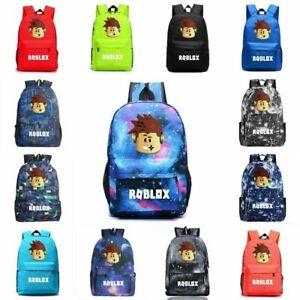 2021 Roblox Backpack Kids Boys Students School Bag Bookbag Handbags Travelbag