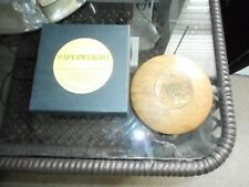 Wood and Cooper Paperweight Signed 1965