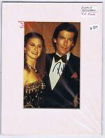 PIERCE BROSNAN  James Bond  Remington Steele   Mounted  HAND SIGNED Colour Photo