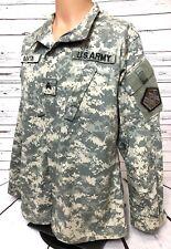 US Army Multicam Camo Combat Shirt Coat Size MEDIUM Long Patches