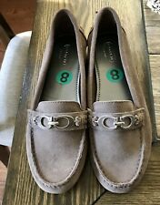 NEW Coach Fortunata Taupe suede Driving Loafer sz 8