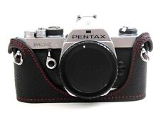 Leather Half Case for Pentax MX - Black with Red Stitching  - BRAND NEW