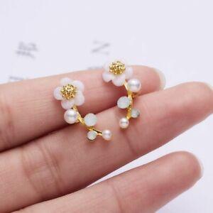925 Sliver Daisy Flower Butterfly Earrings Long Tassel Women CZ Weddings Jewelry