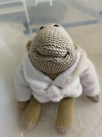 """VGC! Small 6"""" PG Tips Tea Monkey Chimp in White Dressing Gown Funny Retro Gift"""