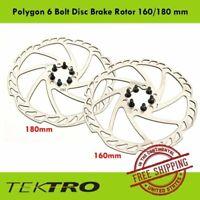 Tektro Polygon 6 Bolt Disc Brake Bike Rotor 160 or 180 mm Road CX Mountain
