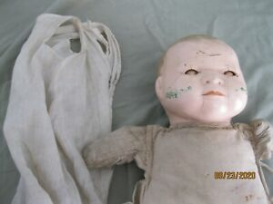 Antique Doll Composition Cloth Sleepy Eye Doll - FOR EYE PARTS ~*~*