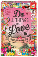 Puzzle Educa 17086 Do All Thing with Love, 500 piezas, Collage, Ensueño, teile