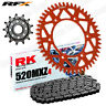For KTM 450 EXC-F 03-16 RK MXZ4 520 Chain & RFX Sprocket Kit Orange 14/52T