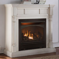 Duluth Forge Dual Fuel Ventless Fireplace - 32,000 Btu, Antique White, Vent Free
