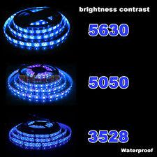5M 300 LED Strip Light 3528 5050 5630 SMD RGB Ribbon Tape Roll Waterproof DC 12V