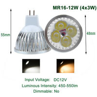 1/5/10/20/50x 9W 12W 15W MR16 CREE LED Spot Lumière Downlight Ampoule Lampe 12V