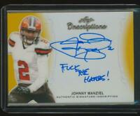"""JOHNNY MANZIEL 2020 Leaf Inscriptions GOLD AUTO """"F*CK THE HATERS!"""" #1/1"""