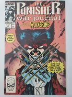 THE PUNISHER WAR JOURNAL #6 & 7 (1990) MARVEL FULL SET! WOLVERINE! JIM LEE ART