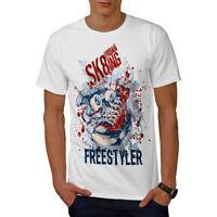 Wellcoda Urban Skater Mens T-shirt, Skateboard Graphic Design Printed Tee