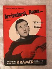 SPARTITO MUSICALE RENATO RASCEL ARRIVEDERCI ROMA GARINEI GIOVANNINI 1954 POP