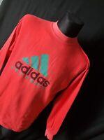 90s Vintage Mens ADIDAS EQUIPMENT Sweatshirt Crew Neck Rare Red Big Logo Size M