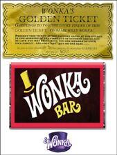 A5 glassa Willy Wonka BAR E BIGLIETTO D'Oro Commestibile Glassa ** FOGLIO ** cake topper