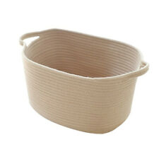 Cotton Rope Storage Basket Holder Sundries Organizer Home Supplies Beige