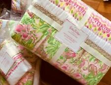 Pottery Barn Kids On Parade Quilt Pink Queen 2 Standard Shams Lilly Pullitzer