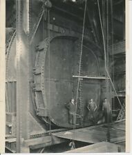 Vintage 1928 Original Photograph Big Time American Industrial Three Workers #1