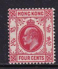 Album Treasures Hong Kong Scott # 90  4c  Edward VII  Mint Hinged