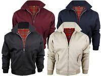 Mens Classic Harrington Jacket Up to 5XL Vintage Retro Bomber Mod Coat *LICK*