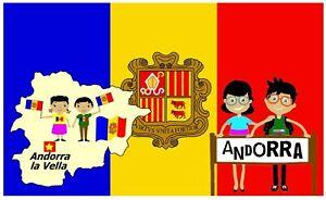 ANDORRA MAP & FLAG SOUVENIR NOVELTY FRIDGE MAGNET / SIGHTS / BRAND NEW / GIFTS