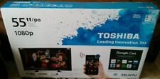 "Toshiba 55"" Inch LED SMART HD TV + WiFi, Apps, GoogleCast, More BRAND NEW IN BOX"