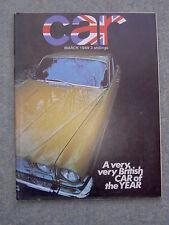 Car (March 1969) Jaguar XJ6, Ford Capri, AC 428