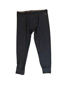 Realtree Xtra Men's Black Heavyweight Cotton Thermal Pants: M-2XL