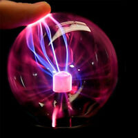 UK USB Plasma Ball Sphere Light Magic Crystal Lamp Desktop Globe Laptop Decor