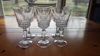 Crystal Water Goblet Glasses in Barcelona by Cristal D'Arques-Durand 6 9oz stems