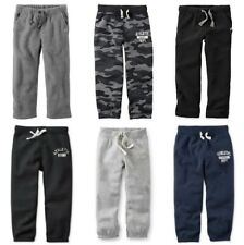 NWT Carter's Boy's Fleece Athletic Dept. Sweat Pants Sizes 4 5 6 7 Camo & Solids