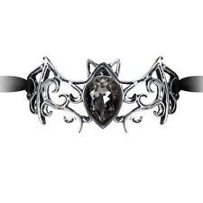 Alchemy Viennese Nights Ribbon Bracelet Gothic Bat Filigree Swarovski