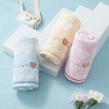 3-Piece Cotton Towels Set Hand & Face Towel Cute Bear Embroidered For Kids