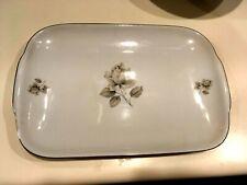 Towne Fine China Porcelian Bavaria Germany Moonlight Rose Large Platter NICE!