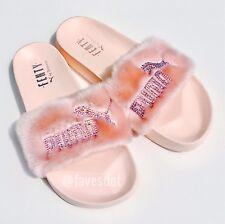 Puma Fenty Fur Slides Shell w/ Swarovski Crystals
