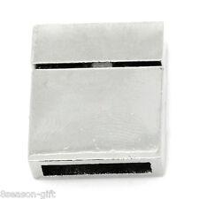 5PCs Magnetic Clasps Fit DIY Bracelets Rectangle Silver Tone 21mmx17mm