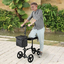 Heavy Duty Knee Walker Scooter Adjustable Height w/Soft Pad Brake Easy Operated
