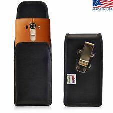 Turtleback Vertical Leather Holster Pouch Metal Belt Clip Phone Case for LG G4