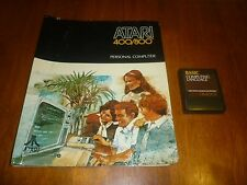 Computing Language Basic (Atari 400/800/XL/XE) Cartridge + Instruction Manual